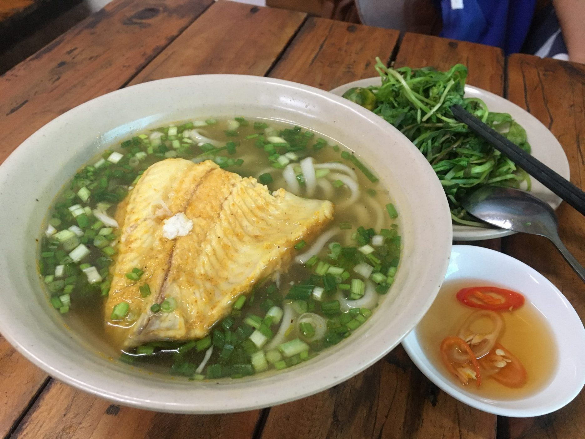 Bánh Canh Cá Hấp - Thick Rice Noodle Soup with Steamed Fish