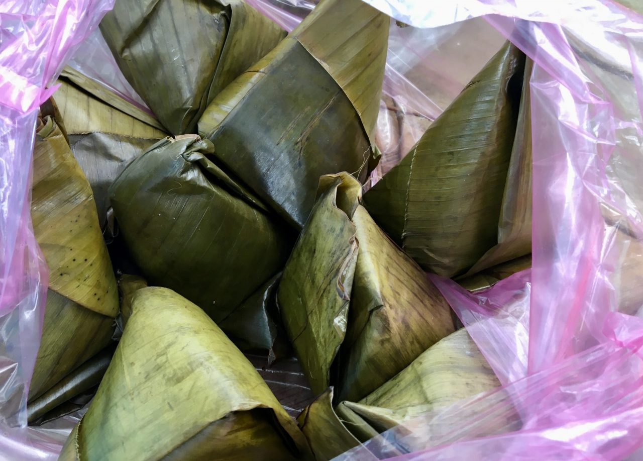 Bánh Giò - Steamed, Pyramid Shaped Rice and Pork Dumplings