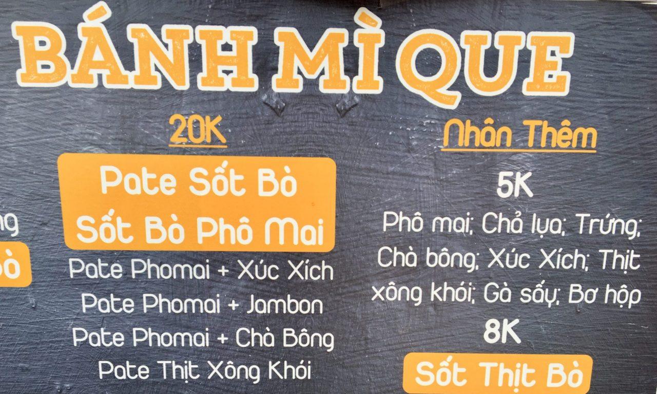 Bánh Mì Que - Vietnamese Breadstick Baguette and Fillings