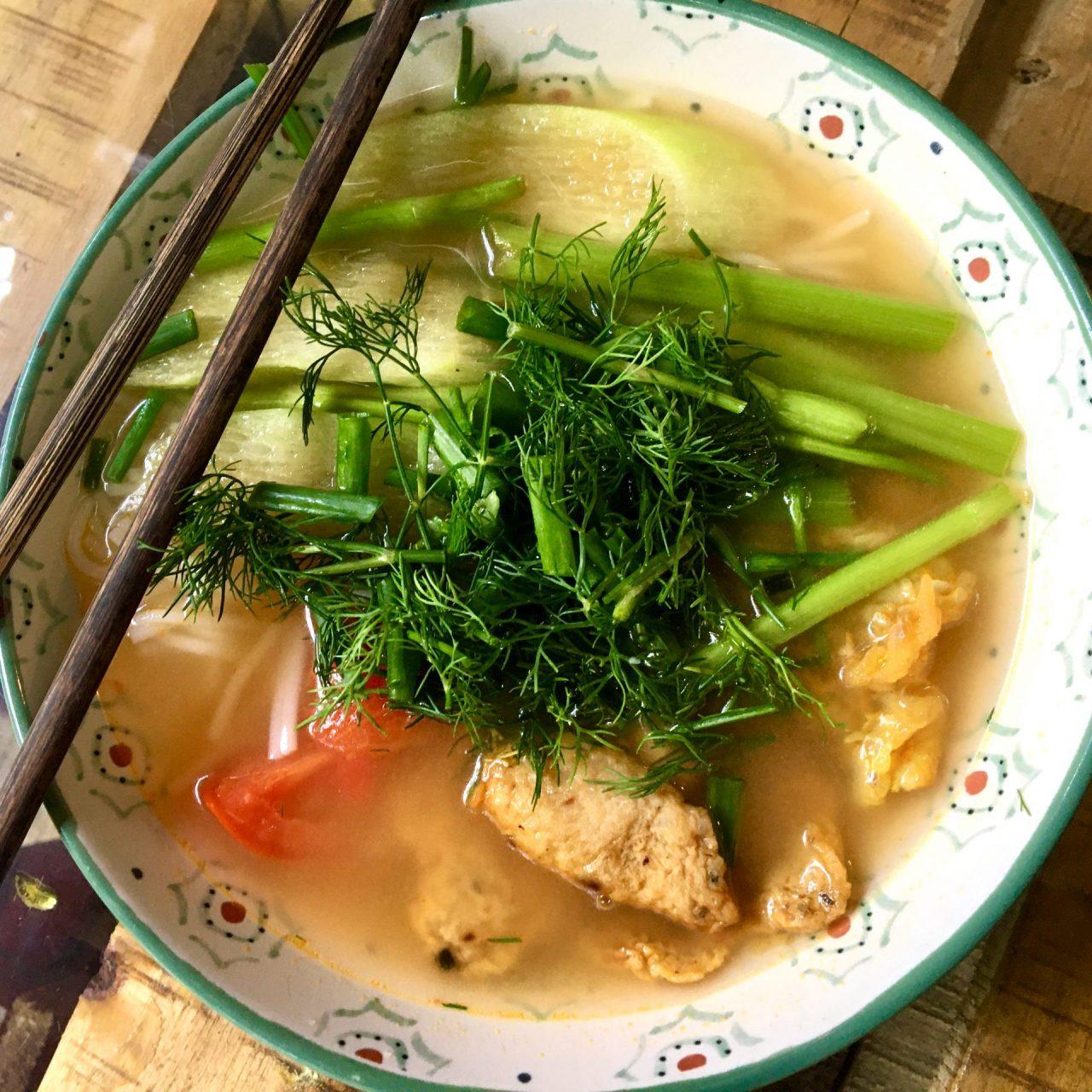 Bún Cá Hải Phòng - Fried Fish Noodle Soup from Hai Phong