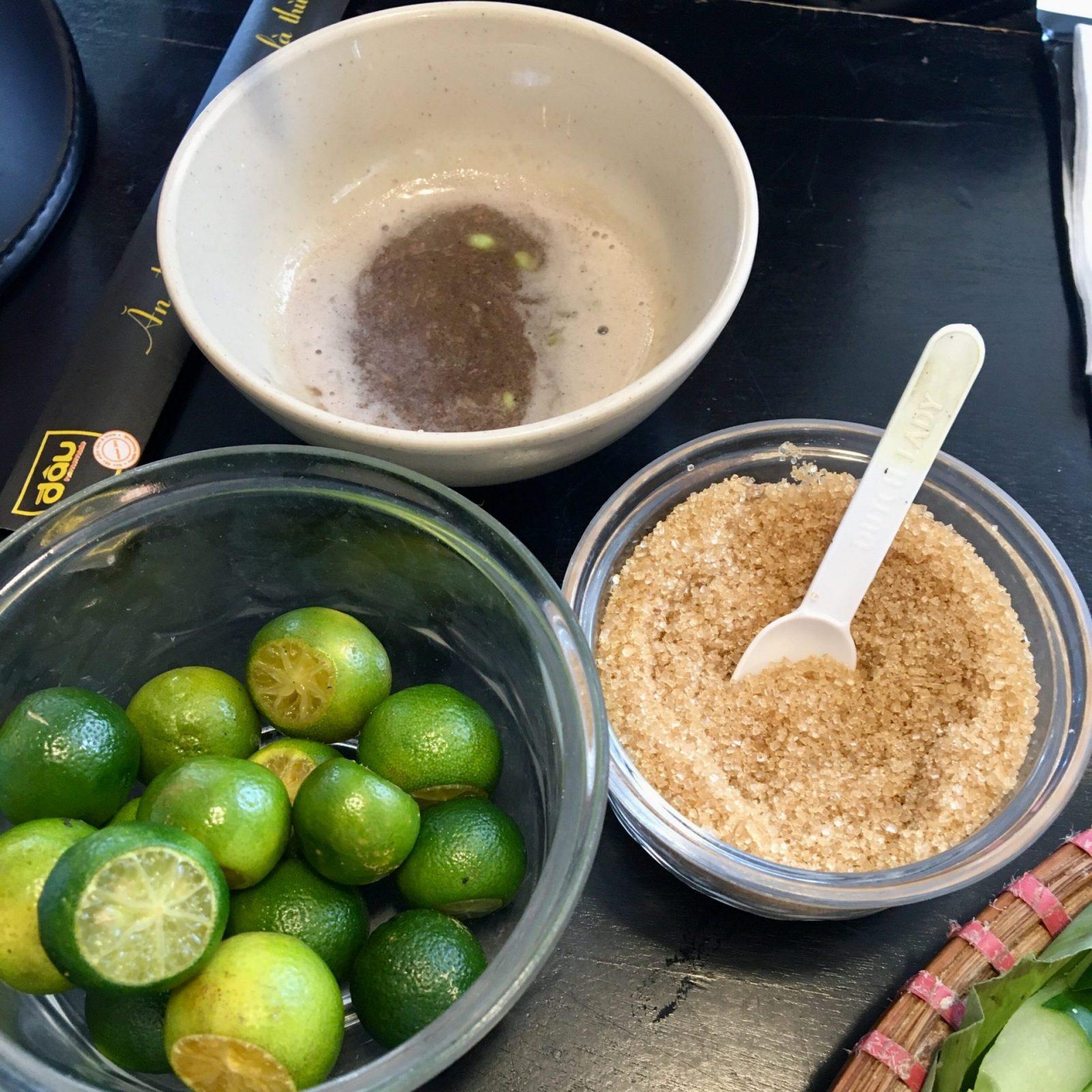 Bún Đậu Mắm Tôm - Shrimp Sauce Sugar and Lime