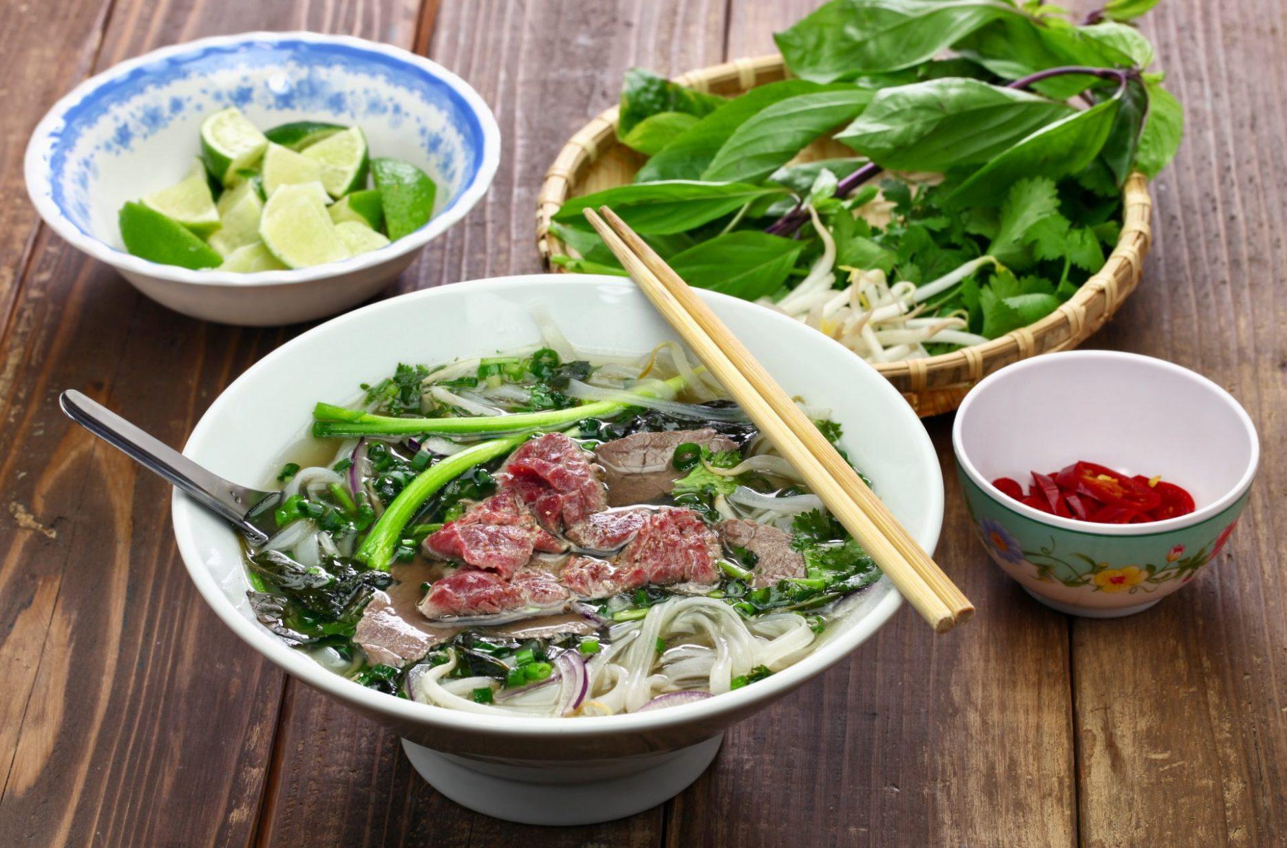 Delicious Vietnam Pho Bo Tai