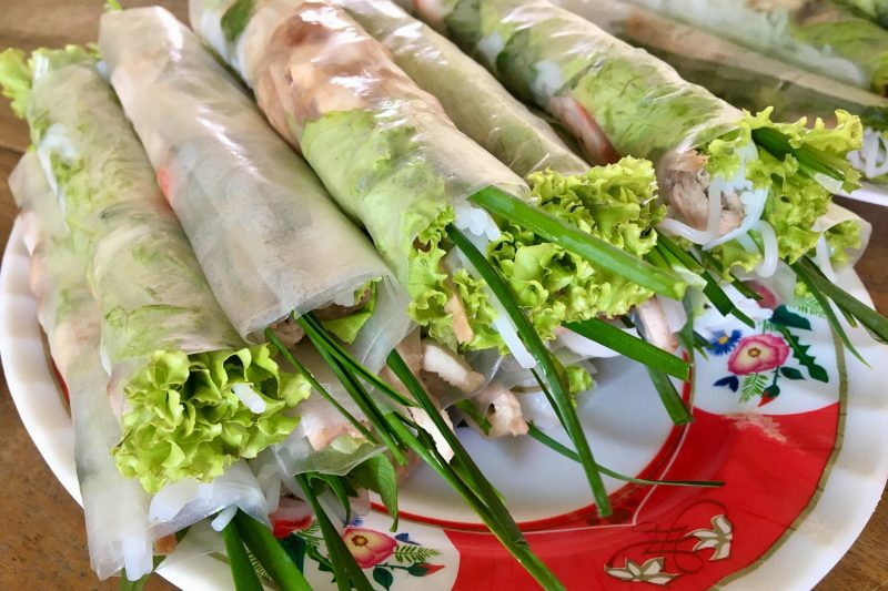 Gỏi Cuốn - Fresh Rice Paper Pork and Prawn Spring Rolls