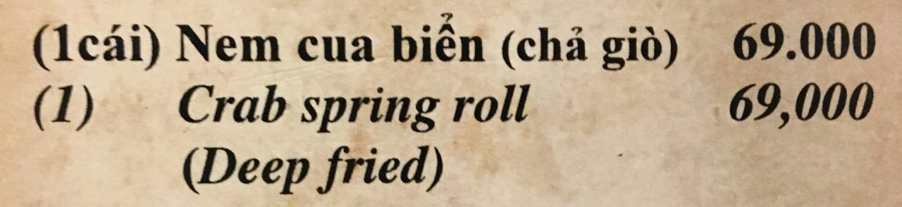 Nem Cua Bể - Crab Spring Roll