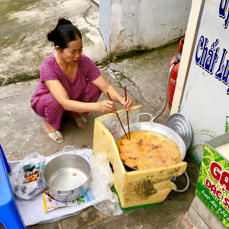 Bánh Rán Gấc - Vietnamese rice balls
