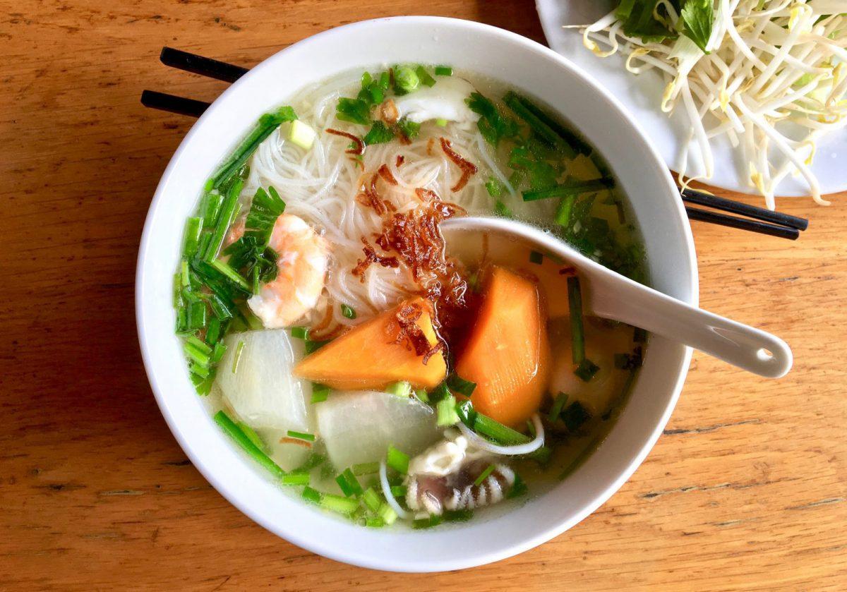 Hủ Tiếu - a Popular South East Asian Tapioca Noodle Dish