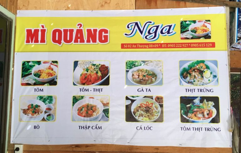 Different Types of Mì quảng