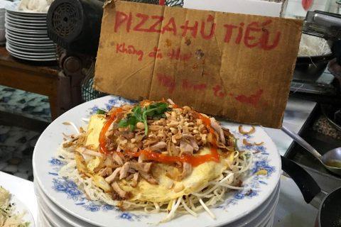 Pizza Hủ Tiếu - Vietnamese Rice Noodle Pizza