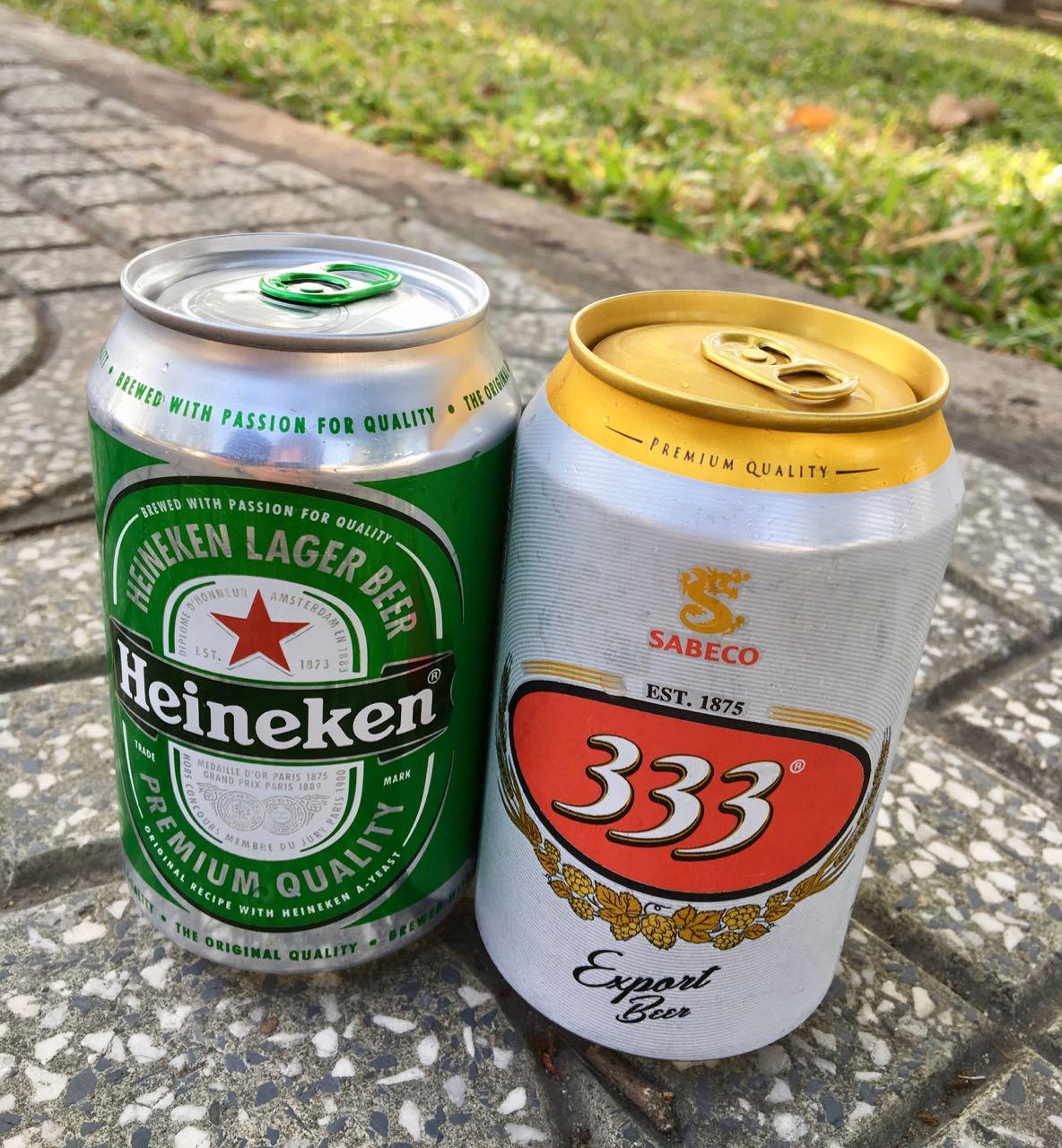Vietnamese Beer 333 Heineken