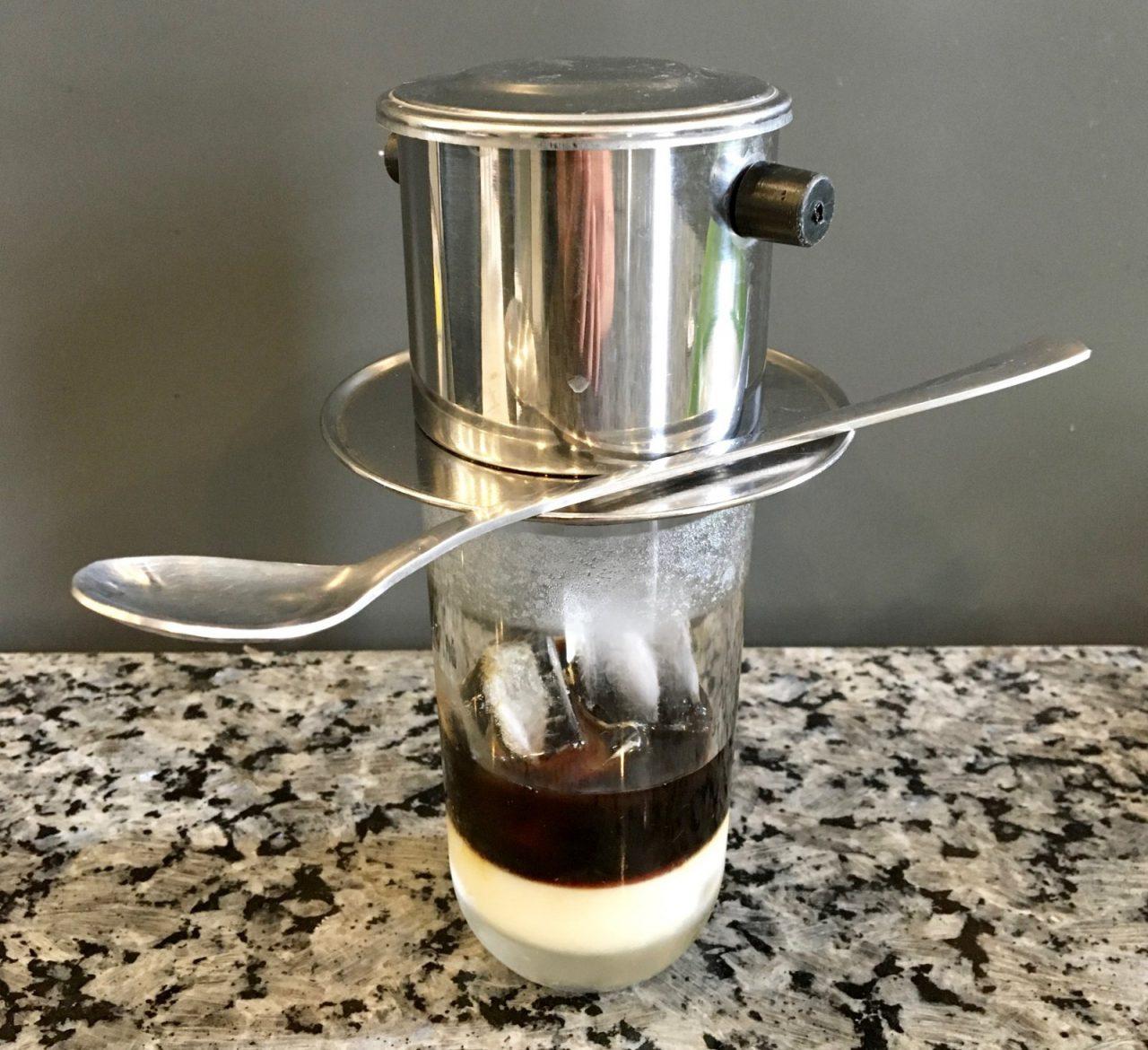 Vietnamese Coffee - Cà phê sữa đá in making