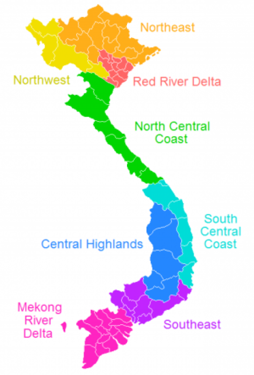 Vietnamese Regions Map