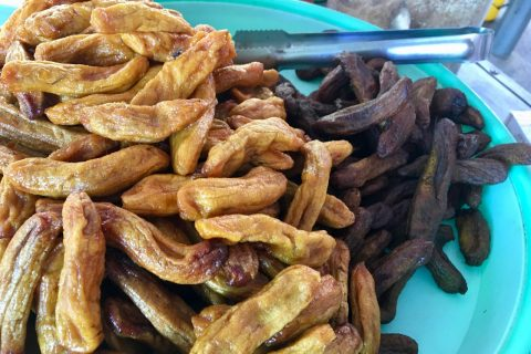 Vietnamese chewy dried banana fingers