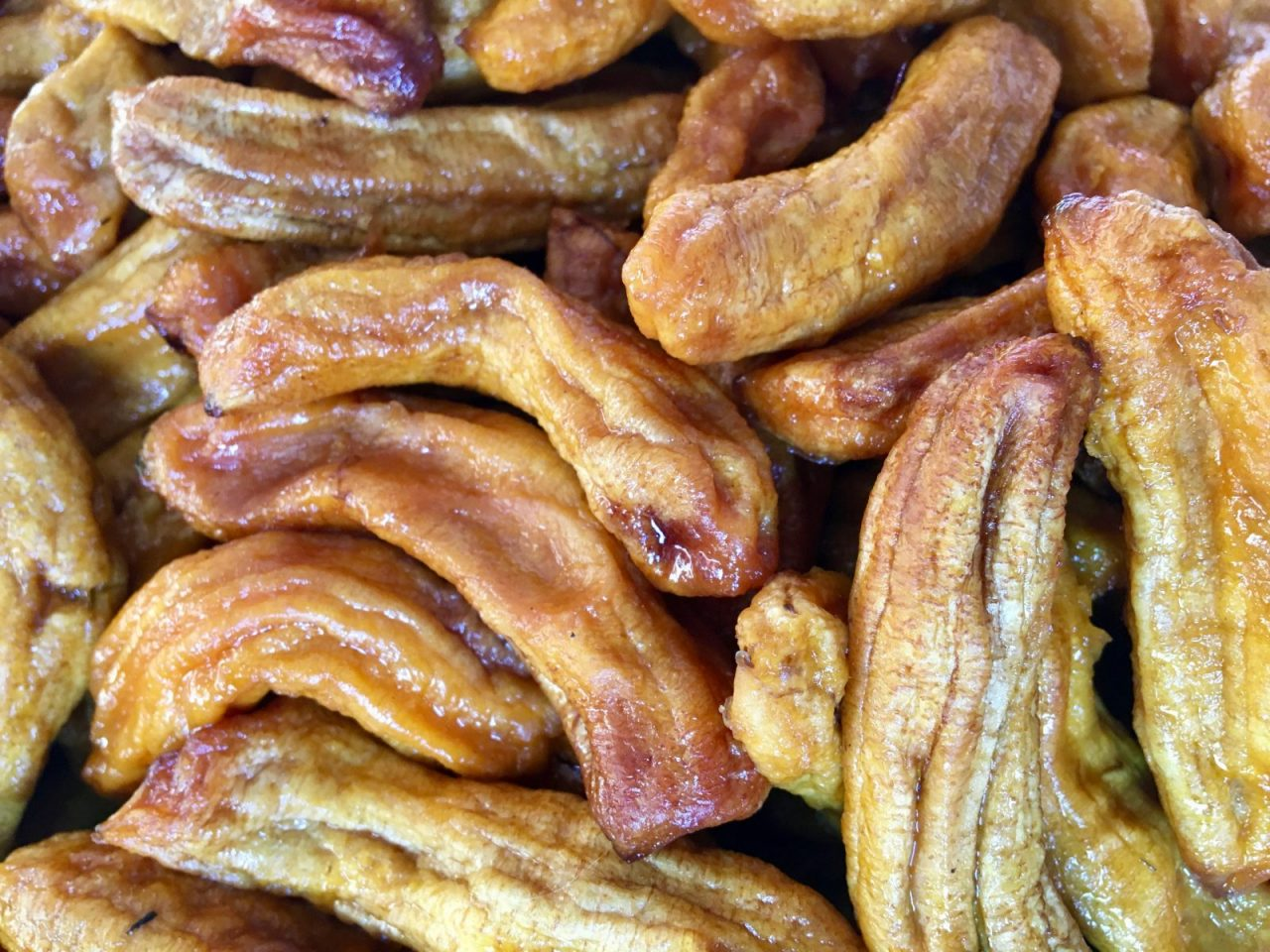Vietnamese chewy dried banana finger
